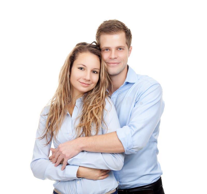 Junges glückliches Paar lizenzfreies stockfoto