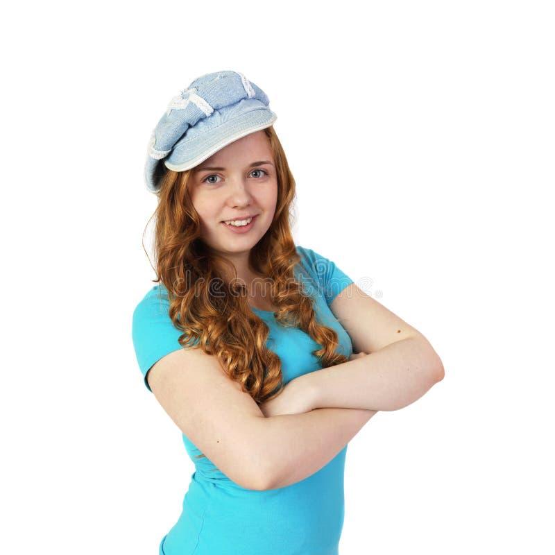 Junges hübsches Mädchen lokalisiert lizenzfreie stockfotos