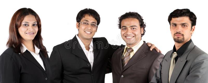Junges indisches Geschäfts-Team stockfotografie