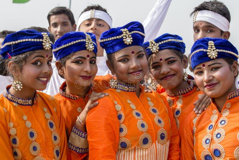 Junges indisches Mädchen des Porträts in Neu-Delhi, Indien lizenzfreie stockfotografie