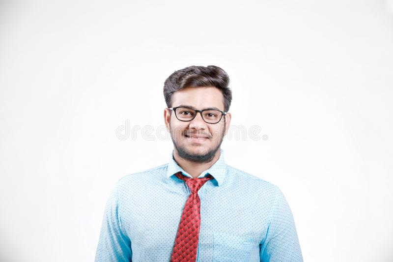 Junges indisches männliches Modell auf Schauspielen lizenzfreies stockbild
