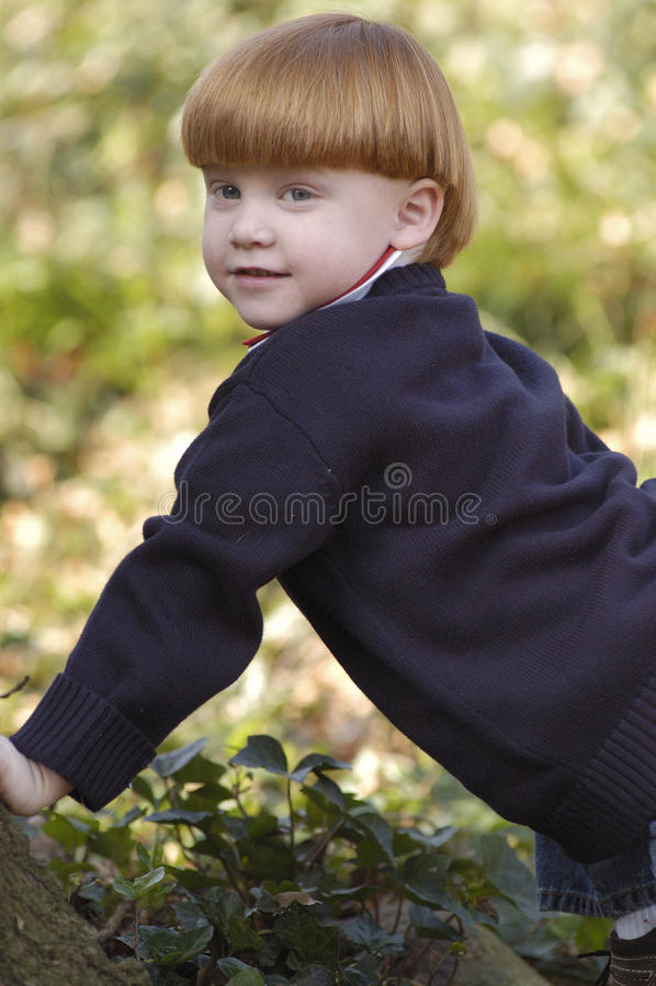 Junges Jungenkriechen lizenzfreies stockfoto