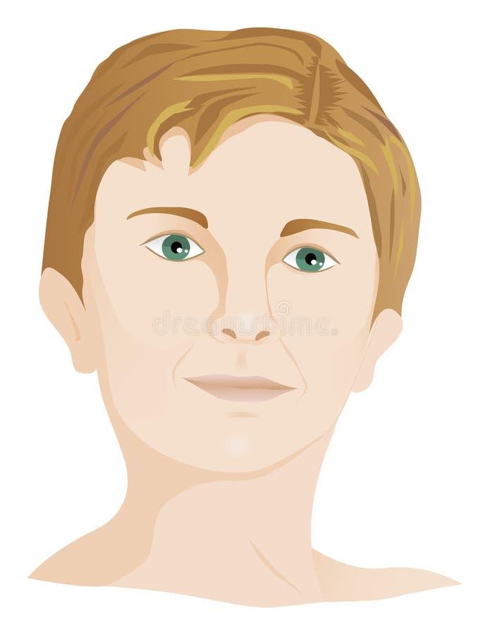Junges Jungenportrait stock abbildung