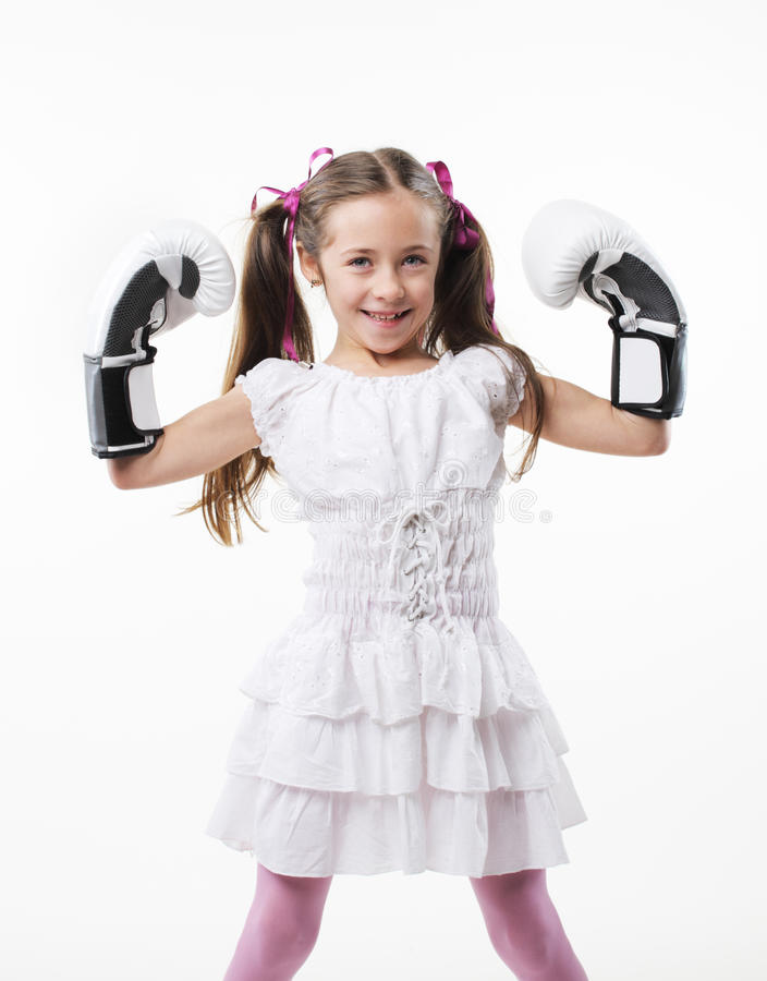 Junges Kämpfermädchen lizenzfreie stockfotografie