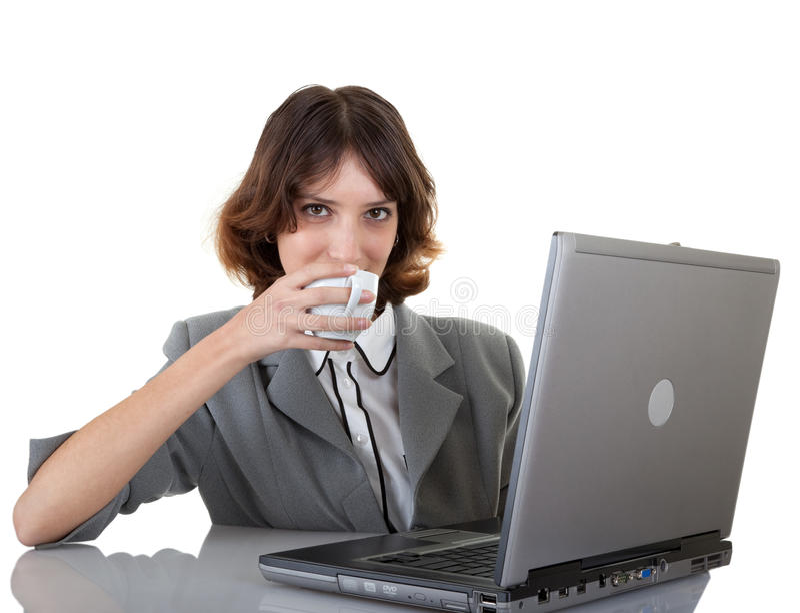 Junges Mädchen in den Büro clouses lizenzfreies stockbild