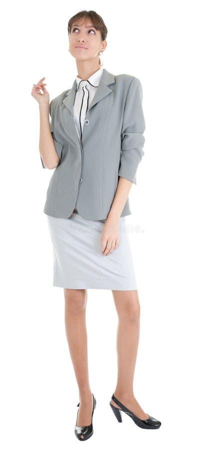 Junges Mädchen in den Büro clouses stockfoto