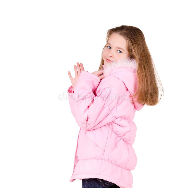 Junges Mädchen in der Winterzeit stockbild