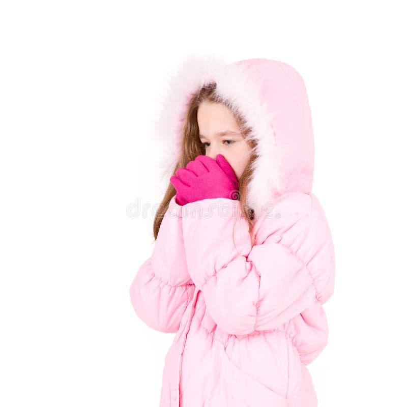 Junges Mädchen in der Winterzeit stockfoto
