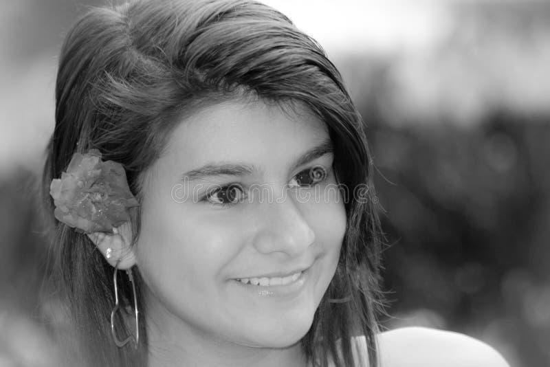 Junges Mädchen des Porträts stockfotos