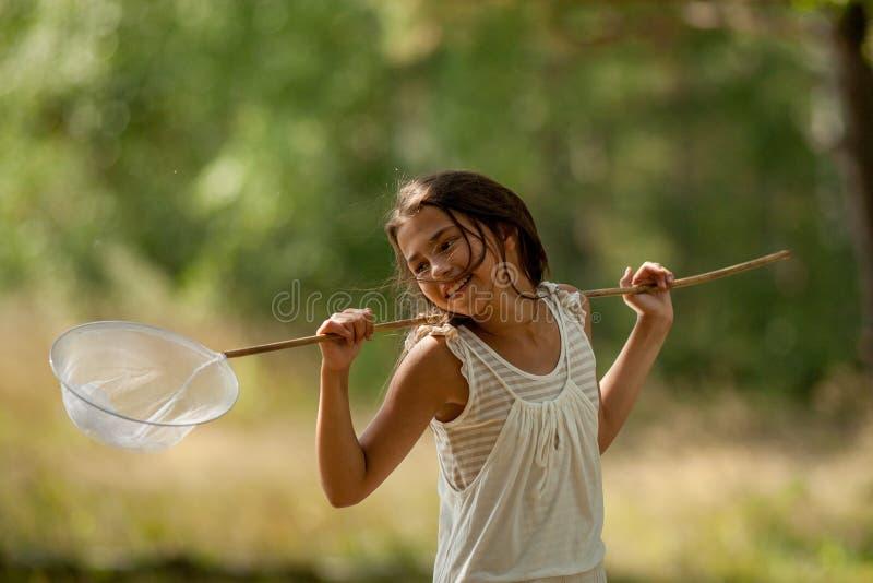 Junges Mädchen Entomologe stockfoto