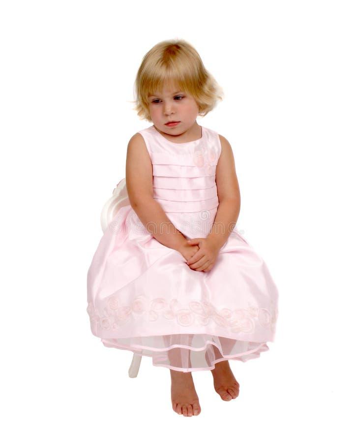 Junges Mädchen Im Rosa Stockbild
