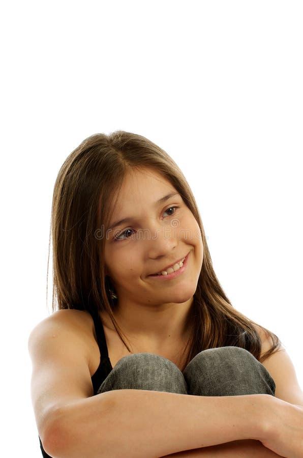 Junges Mädchen-Lächeln stockbilder