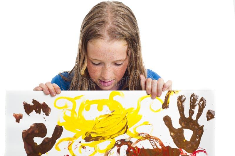 Junges Mädchen mit Anstrich lizenzfreies stockfoto