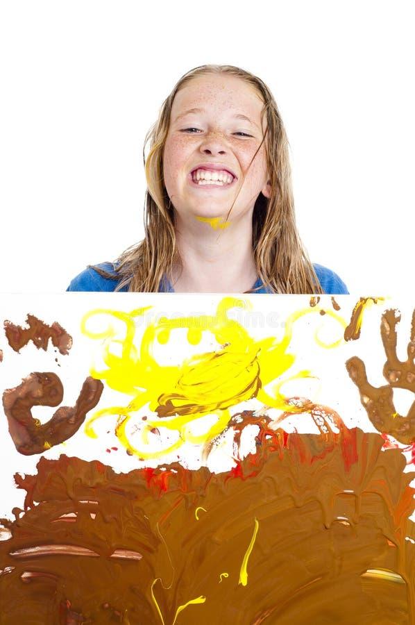 Junges Mädchen mit Anstrich stockfoto