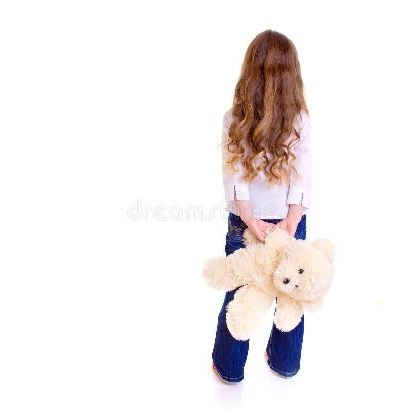 Junges Mädchen mit Bären lizenzfreie stockfotografie