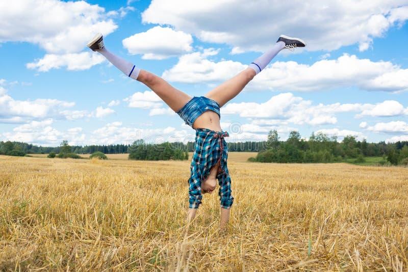 Junges MädchenGymnast stockfotografie