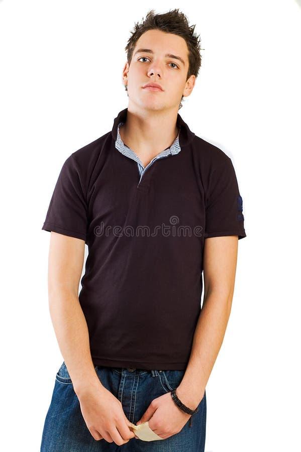 Junges männliches Baumuster stockfotografie