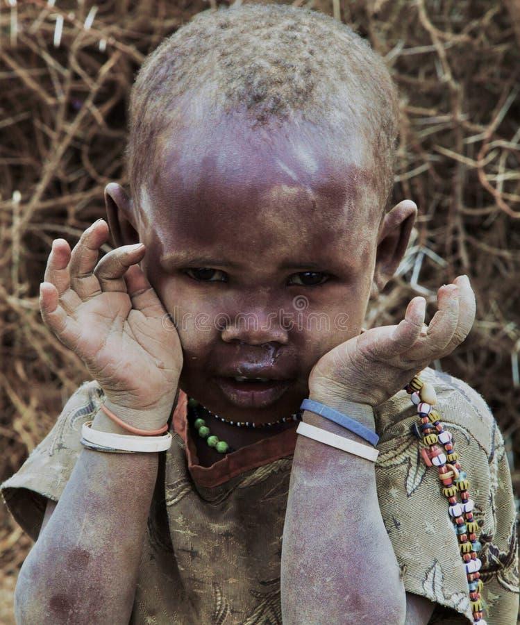 Junges Masaimädchen stockfotos