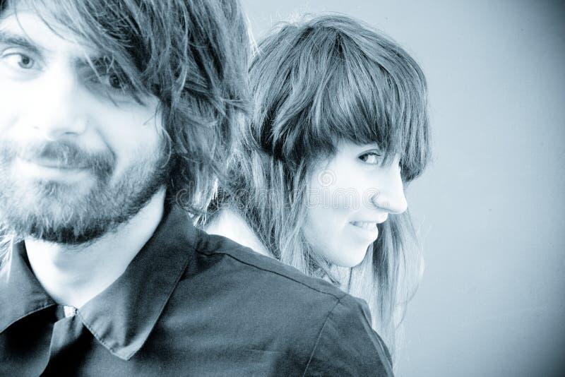 Junges Paar-Portrait stockfotos