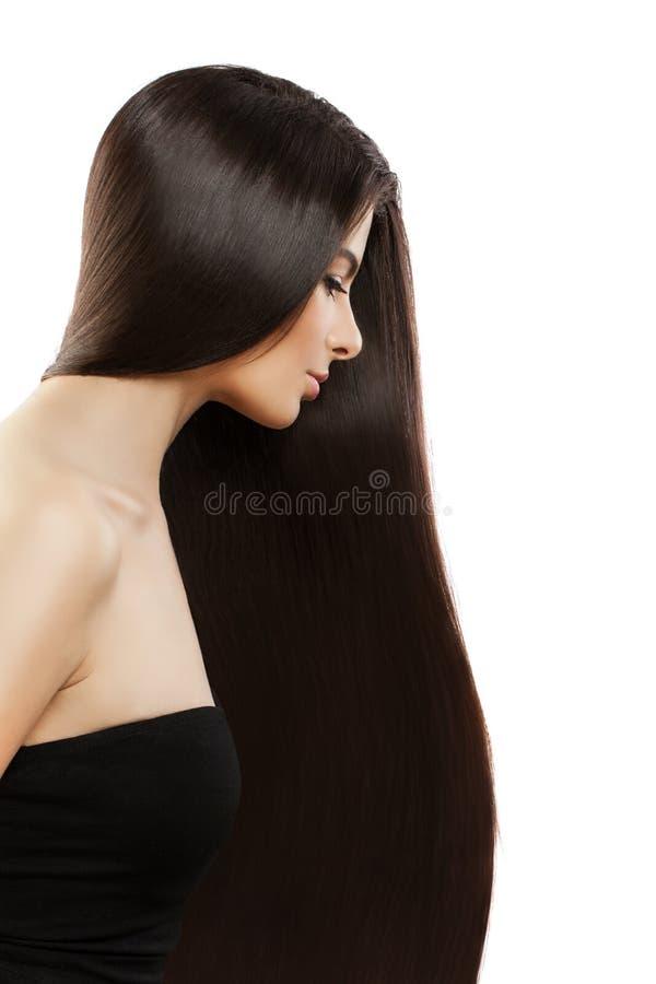 Junges perfektes vorbildliches Woman mit dem langen Haar stockfoto