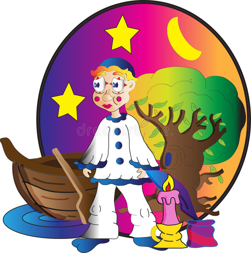 Junges Pierrot lizenzfreie abbildung