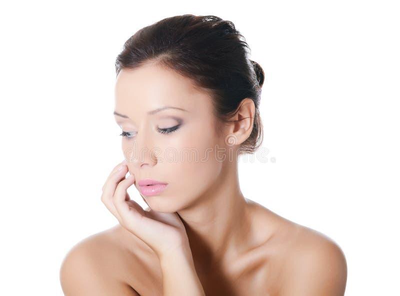 Junges schönes Mädchen mit Make-up stockfoto