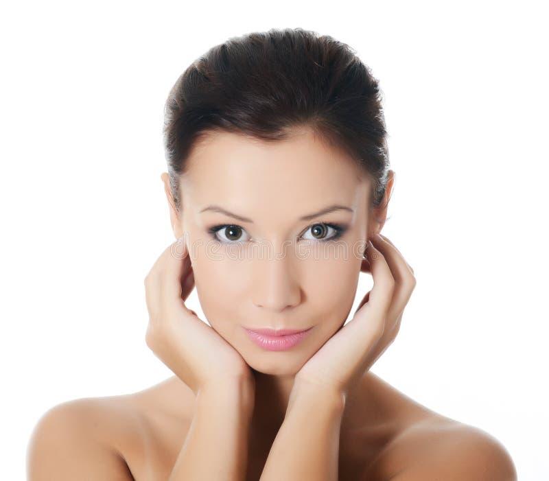 Junges schönes Mädchen mit Make-up stockfotografie