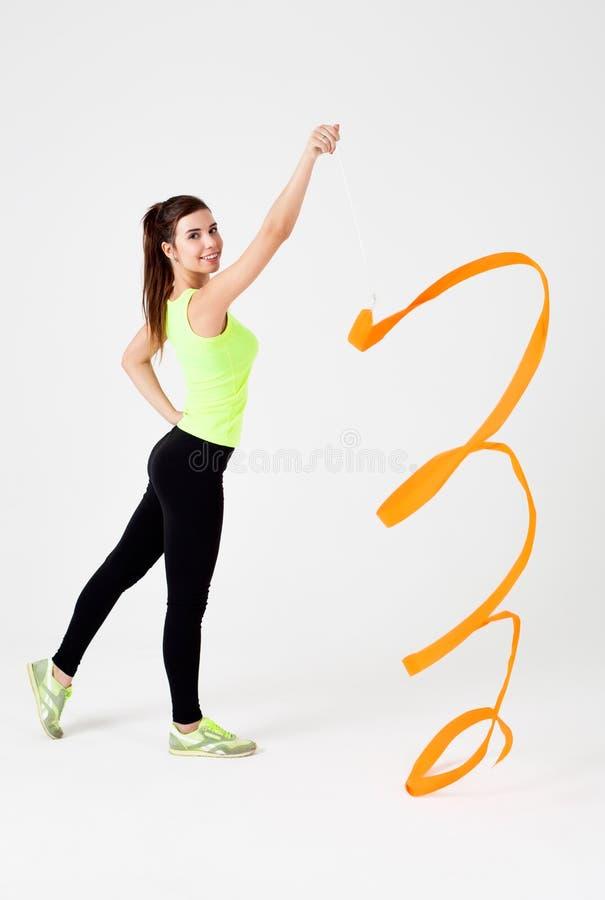 Junges schönes Sportmädchen stockfoto