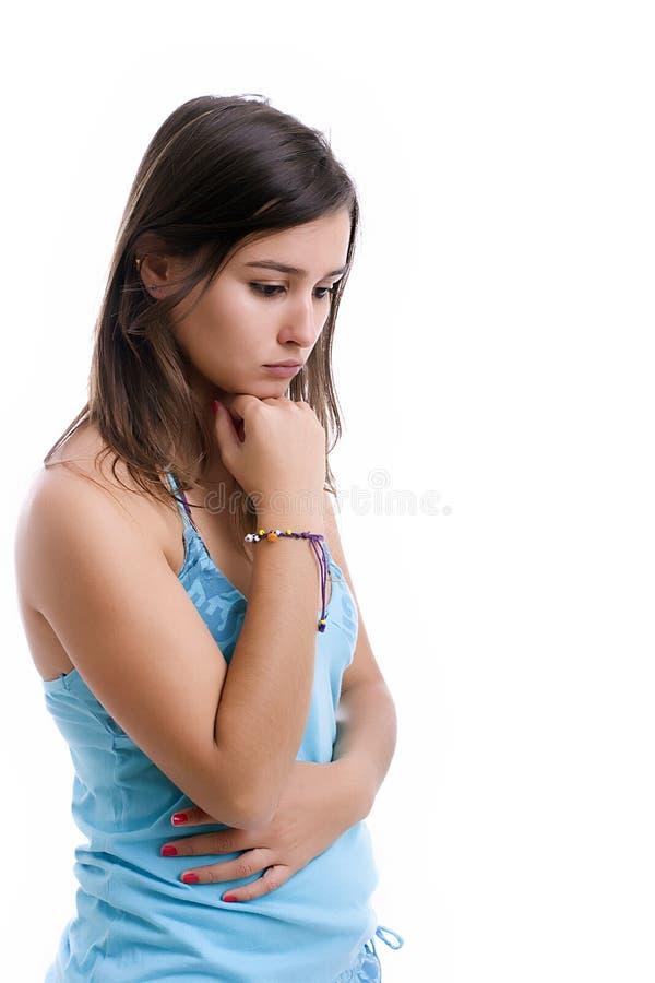 Junges trauriges Mädchenportrait lizenzfreie stockbilder