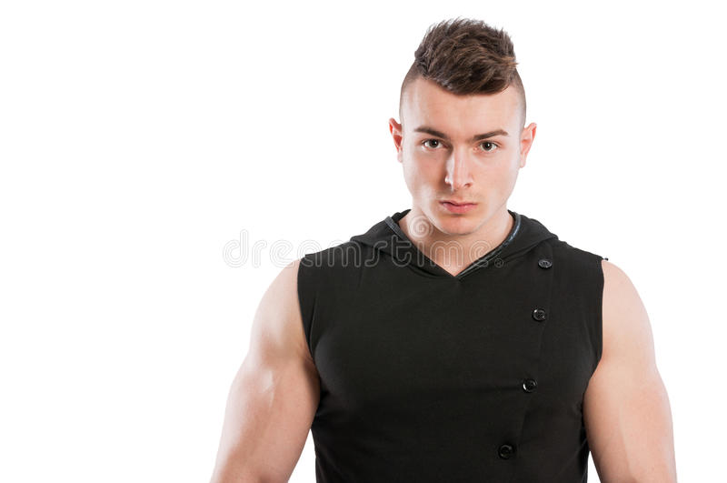 Junges und geeignetes männliches Modell lizenzfreie stockbilder