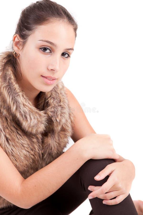 Junges und schönes Frauenportrait lizenzfreies stockbild