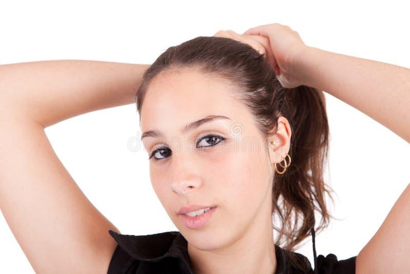 Junges und schönes Frauenportrait stockfotos
