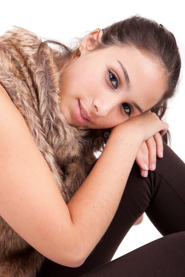 Junges und schönes Frauenportrait lizenzfreies stockfoto