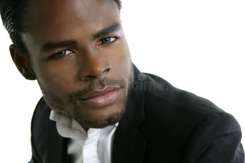 Junges vorbildliches Portrait des Afroamerikaners lizenzfreie stockfotografie