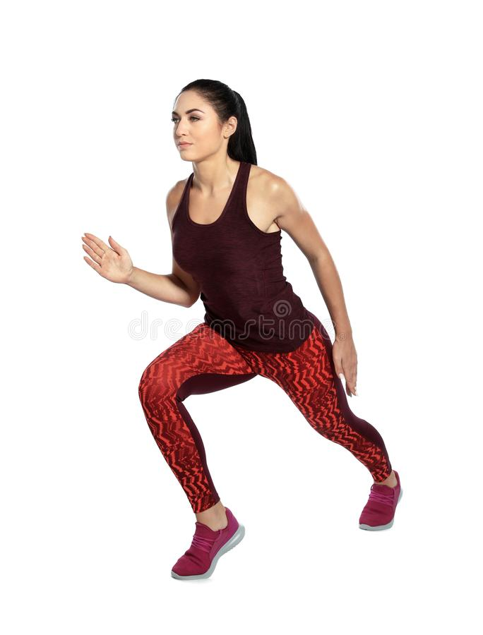 Junges weibliches Läufertrainieren lizenzfreie stockbilder