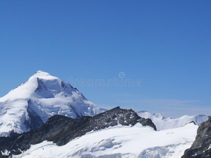 Jungfrau, die Schweiz Die Spitze des Berges stockfoto