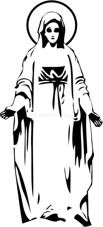 Jungfrau Maria lizenzfreie abbildung