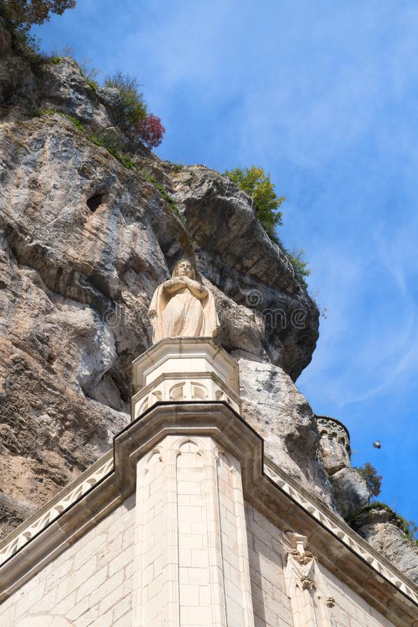 Jungfrau Maria in Rocamadour stockfoto