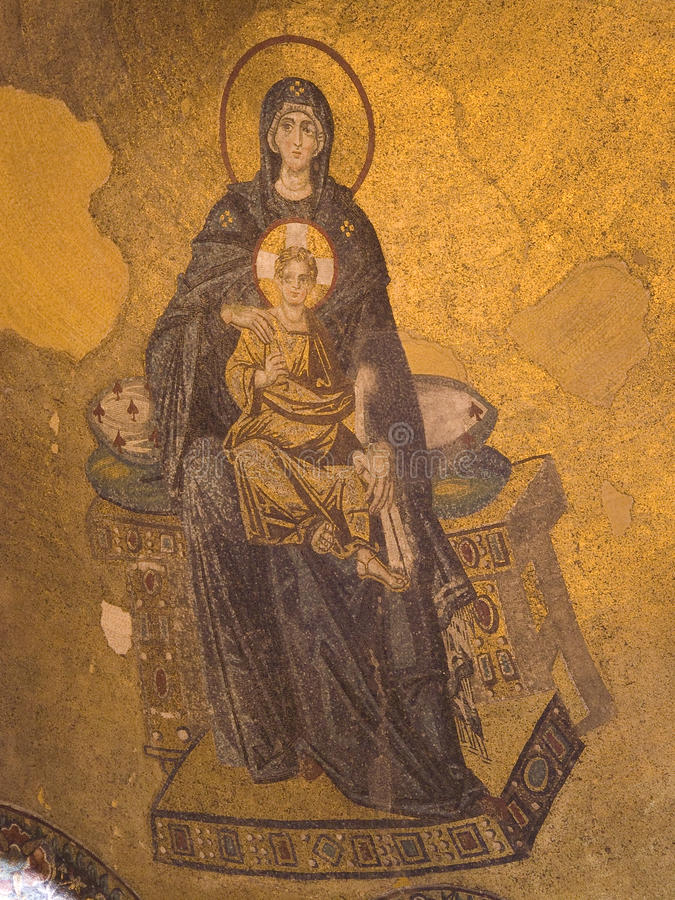 Jungfrau Maria und Schätzchen Jesus lizenzfreie stockfotografie