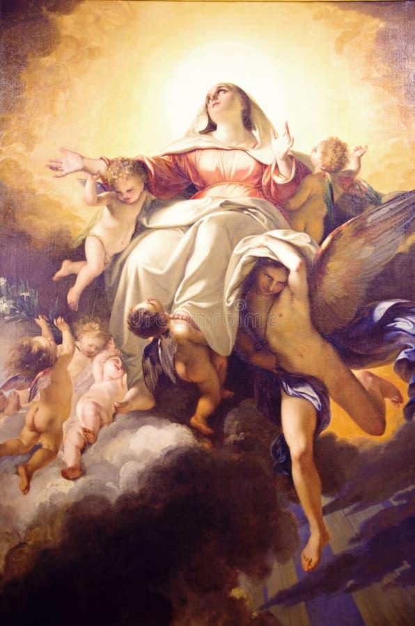 Jungfrau- Mariamalerei lizenzfreies stockfoto