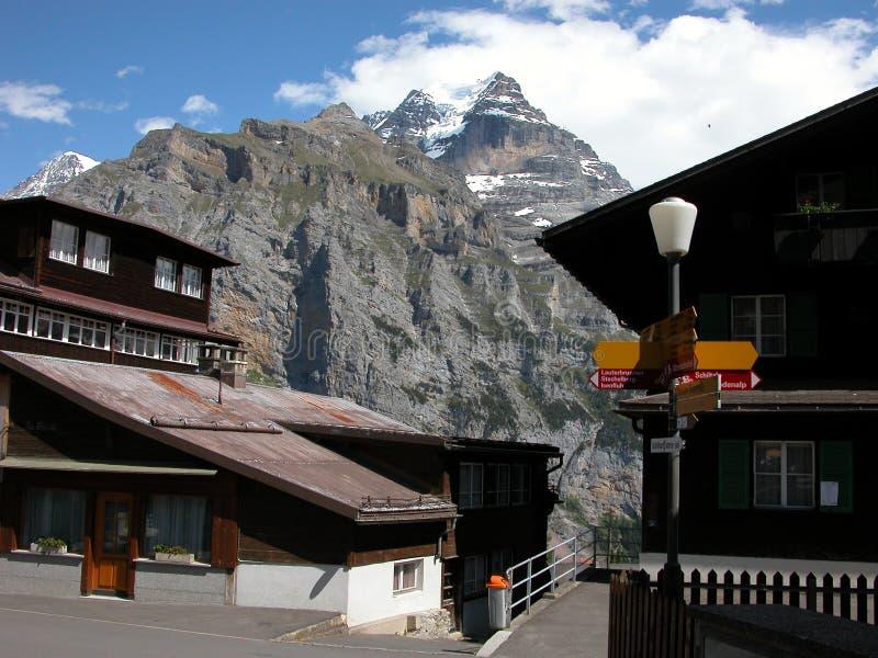 Download Jungfrau Massive In Murren, Switzerland Stock Image - Image: 1708875
