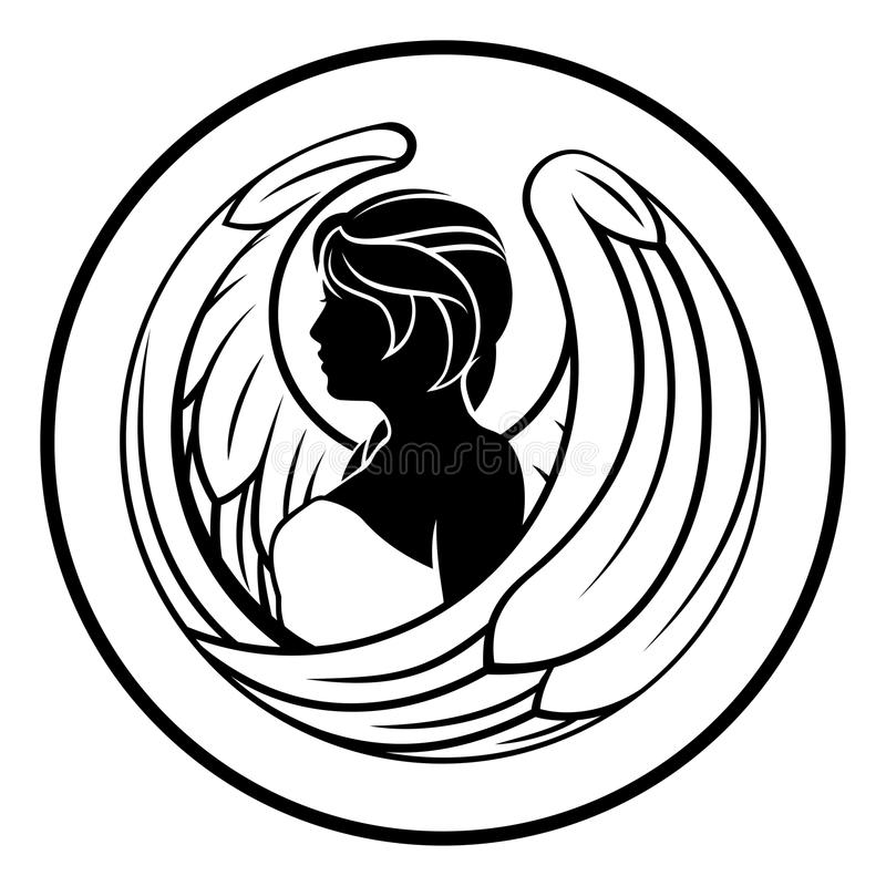 Jungfrau-Tierkreis-Horoskop-Zeichen stock abbildung