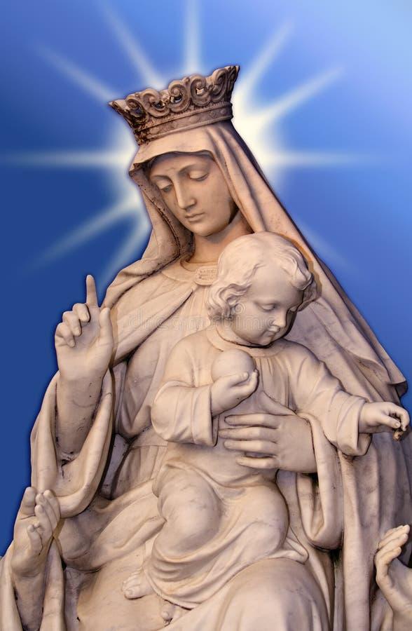 Jungfrau und Kind stockbild