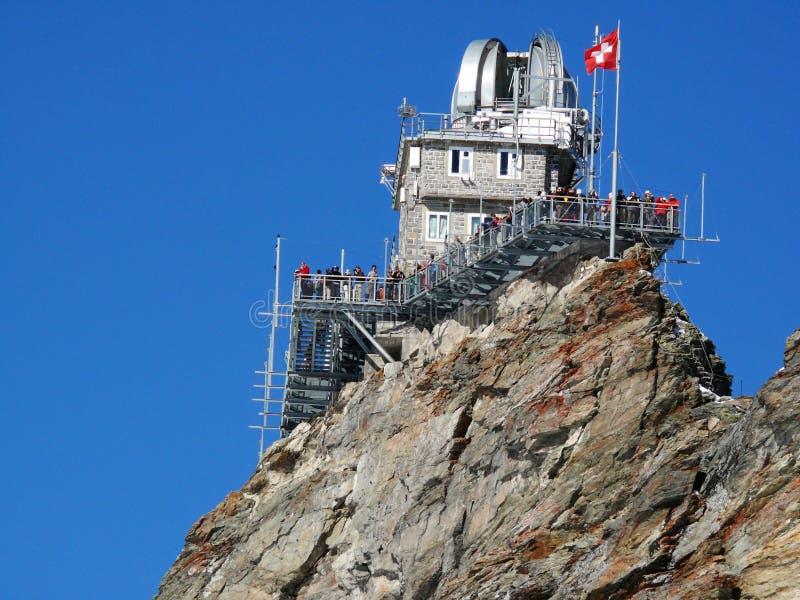 Jungfrau, Zwitserland 08/06/2009 Sfinx astronomische observato royalty-vrije stock afbeelding