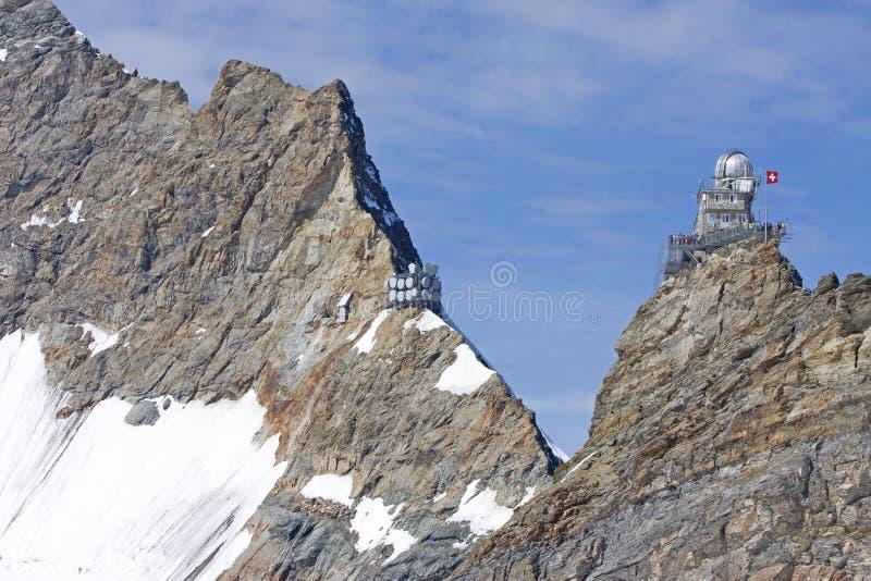jungfraujoch岗位 图库摄影
