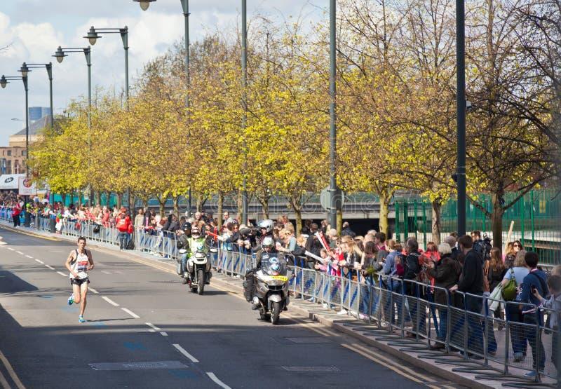 Jungfrulig London maraton 2012 - Merrien arkivfoton