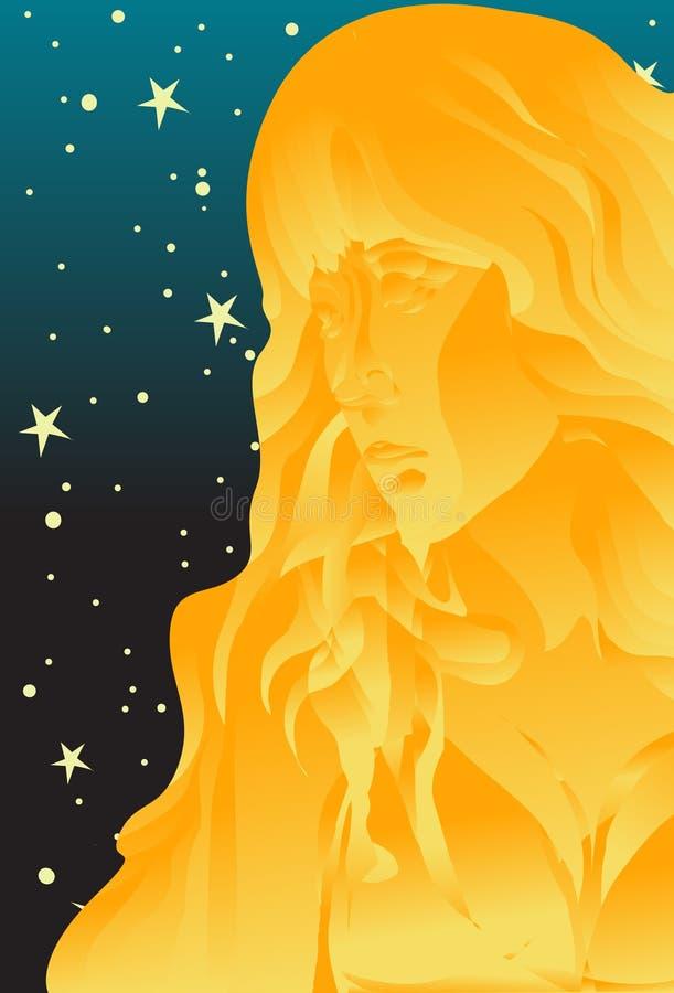 jungfrulig virgo royaltyfri illustrationer