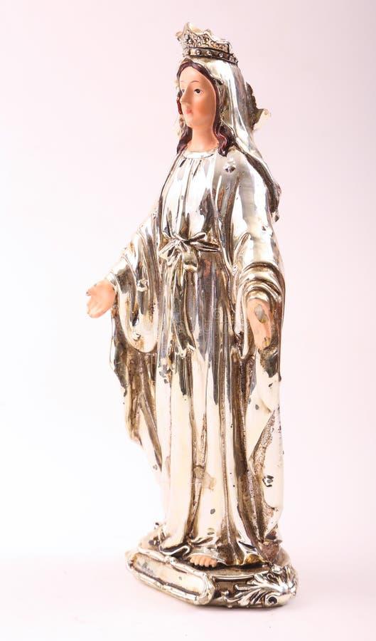Jungfruliga Mary statyett royaltyfria bilder