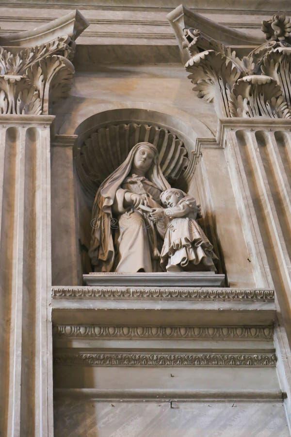 Jungfruliga Mary, Vaticanen, Italien royaltyfria bilder