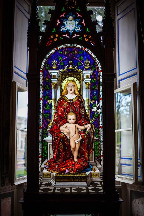 Jungfruliga Mary, Vaticanenmuseum fotografering för bildbyråer